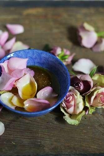 Rosenpeeling DIY Rosen rosa lila violett
