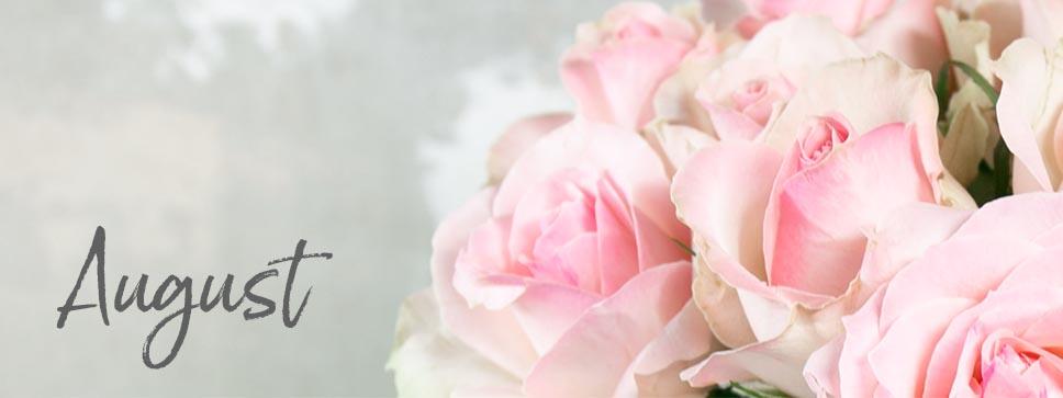 Aktuelle Schnittblumen im August in unserem Saisonkalender auf Blumigo.de