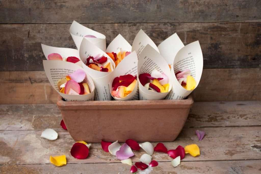Hochzeit Mit Streublumenregen Streublumen Tuten Selber Machen