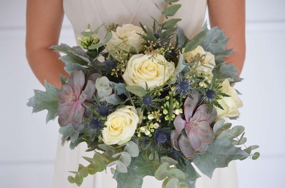 Blaugrauen Brautstrauss Selber Binden Diy Hochzeits Reihe Teil 1