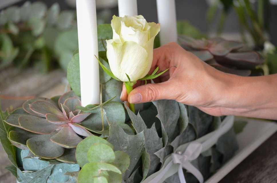 Tischdekoration In Blaugrau Selber Machen Diy Hochzeits Reihe Teil