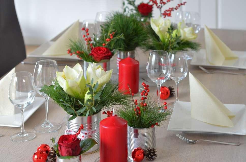 weihnachtliche tischdeko selber machen eine einfache diy. Black Bedroom Furniture Sets. Home Design Ideas