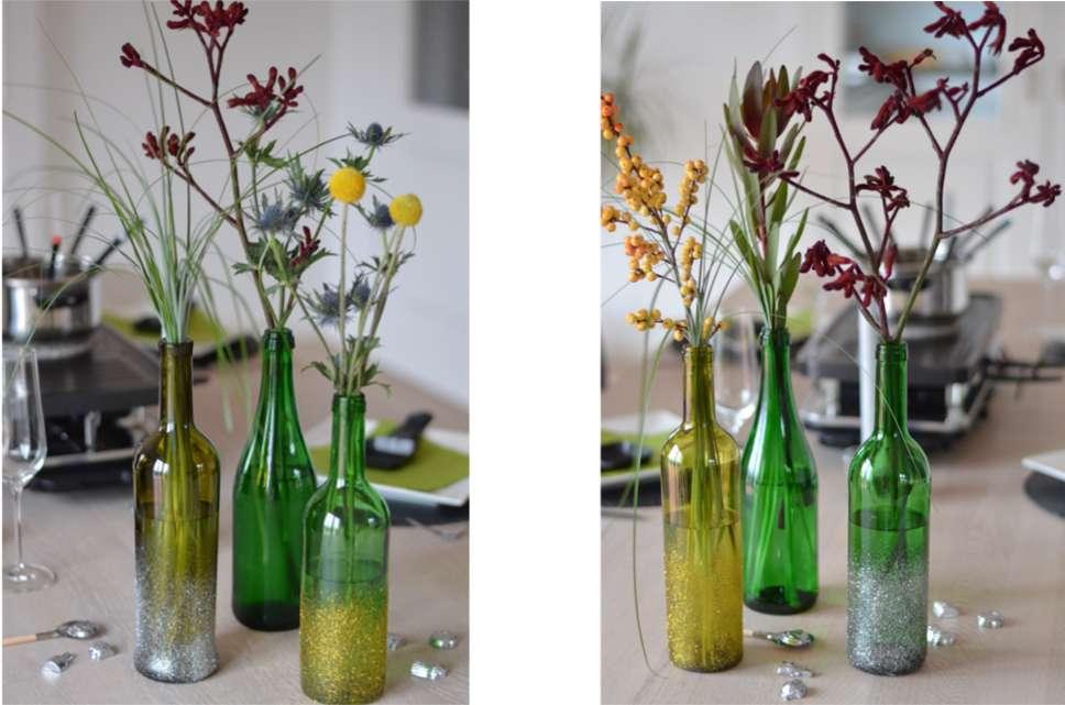 Auf Dem Tisch Sieht Es Immer Besonders Schön Aus, Wenn Sie Gruppen Aus 3 4  Flaschen Zusammenstellen. Sie Können Den Tisch Dann Noch Mit Kerzen Und ...