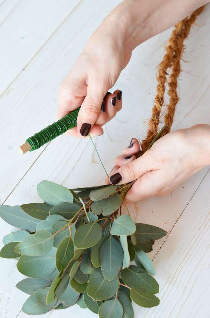 Girlande Binden eukalyptus hochzeit teil 2 tischgirlande selber binden blumigo