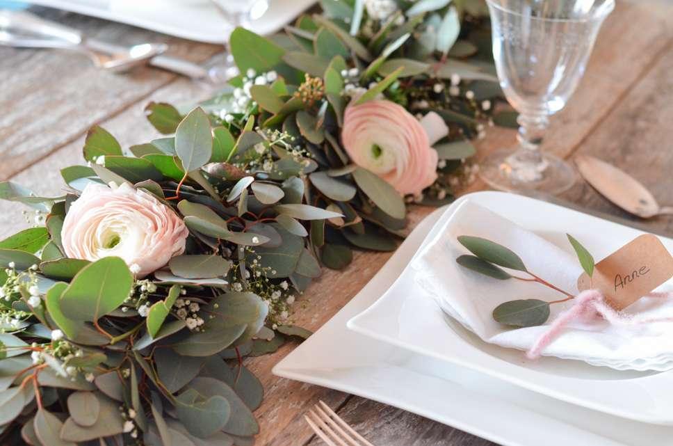 Eukalyptus Hochzeit Teil 2 Tischgirlande Selber Binden Blumigo