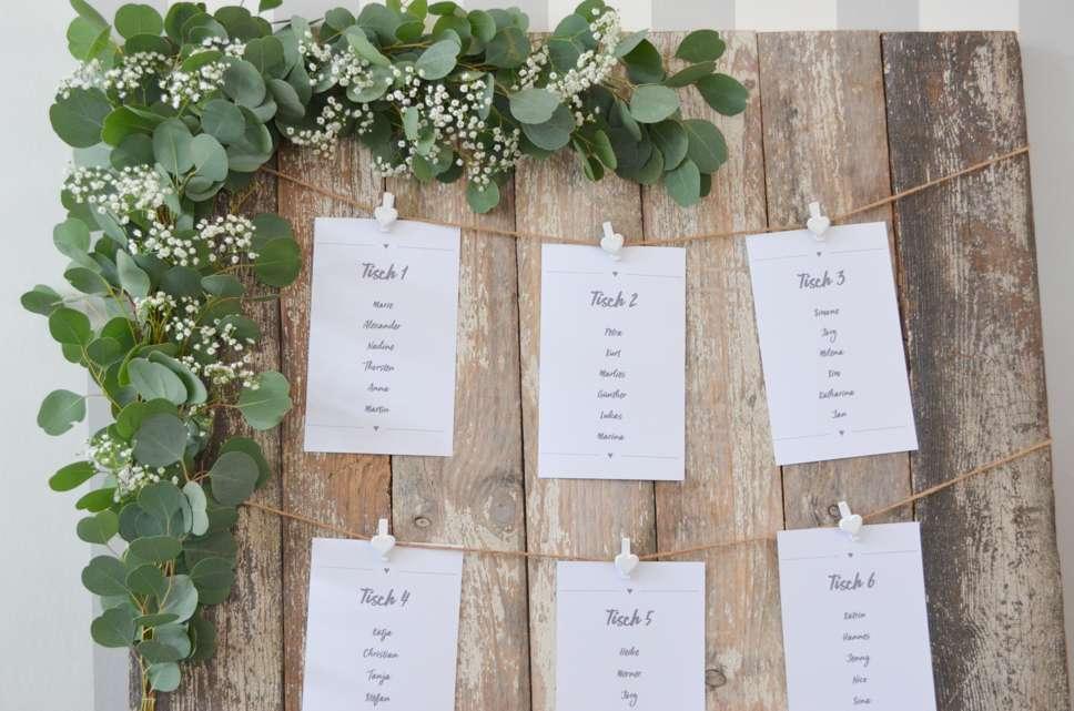 Eukalyptus Hochzeit Teil 3 Tischplan Selbst Gestalten Blumigo