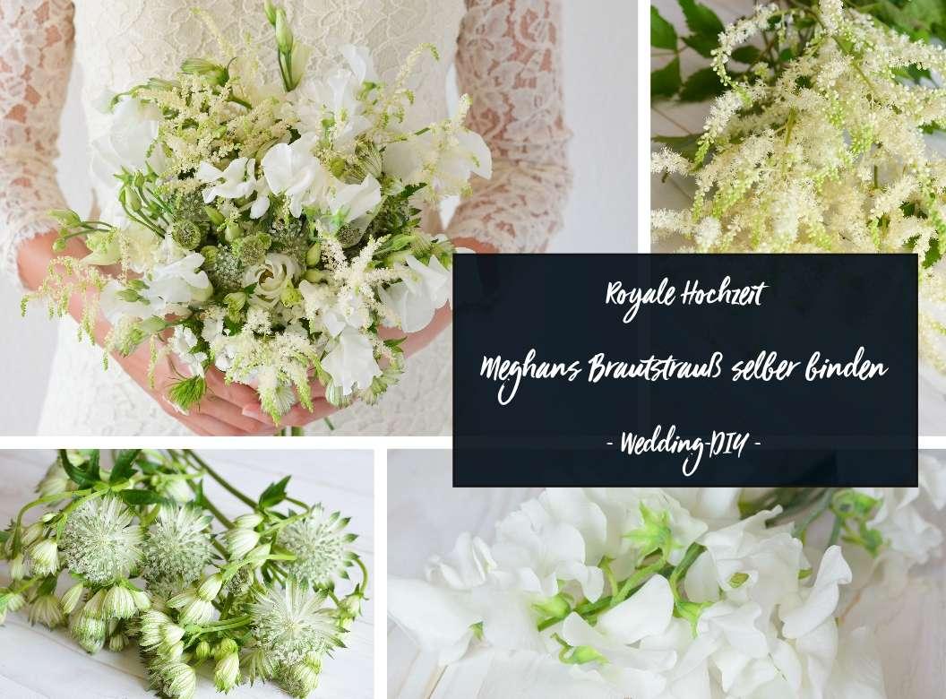 Meghans Brautstrauss Selber Binden Royales Hochzeits Diy Blumigo