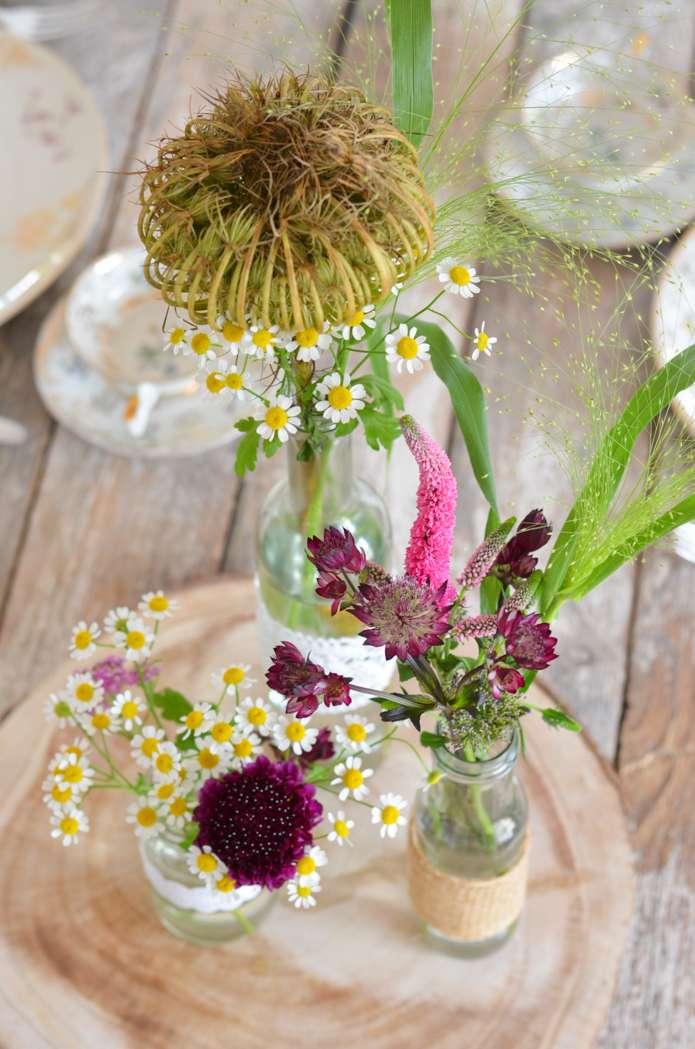 Wildblumen Hochzeit Teil 2 Tischdeko Selbst Gestalten Blumigo