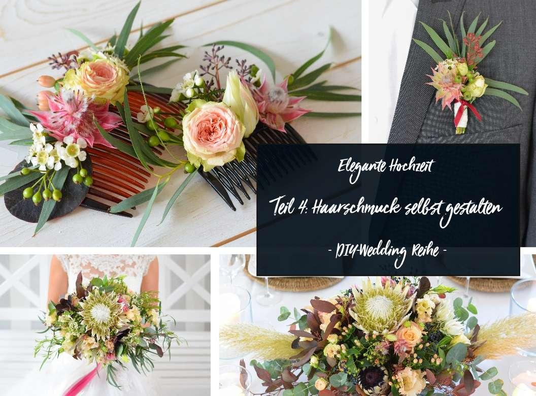 Haarschmuck In Blush Und Burgundy Selber Machen Elegante Hochzeit