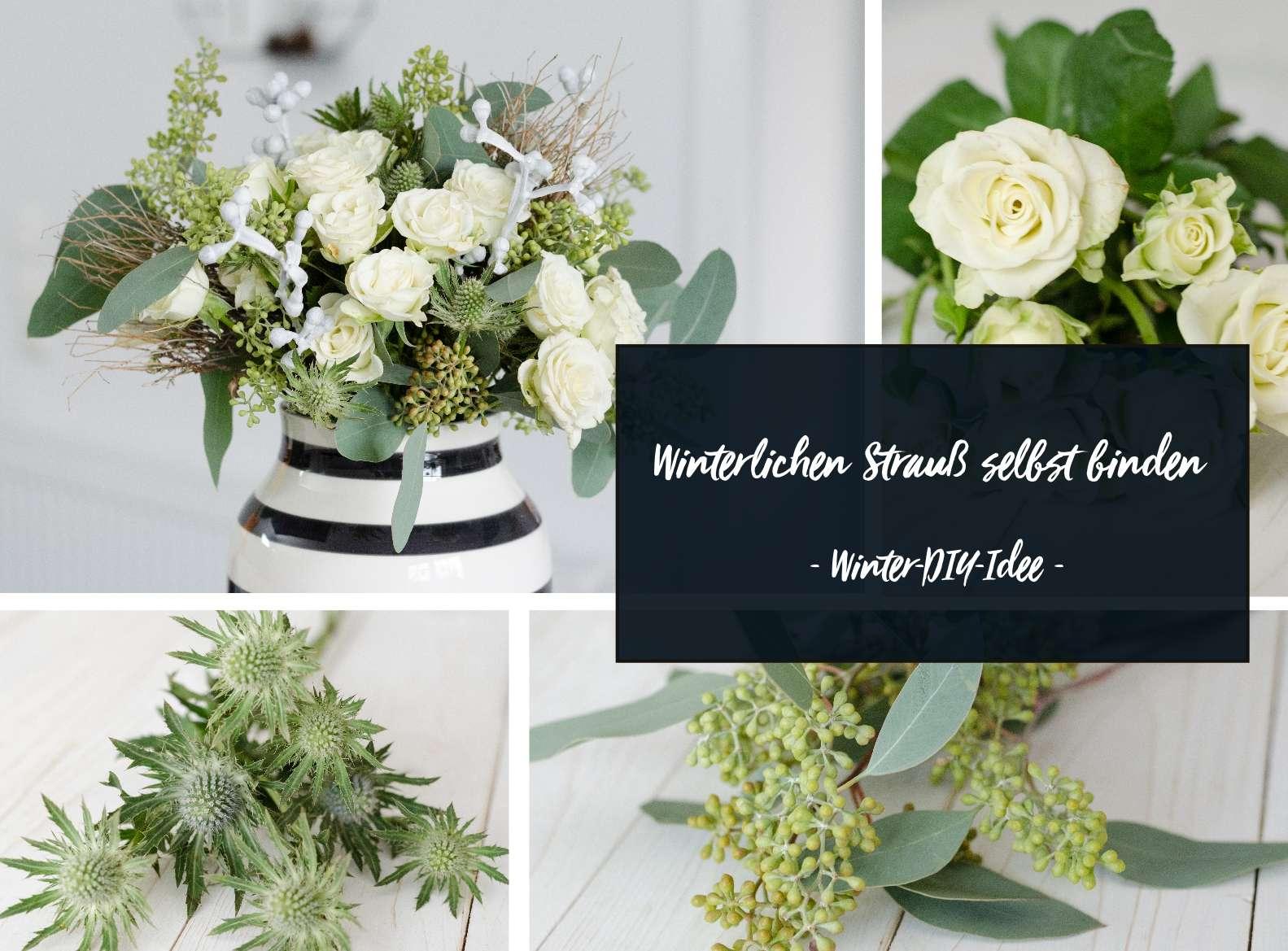 Berühmt Blumenstrauß selber binden – Winterstrauß für die Vase   Blumigo @HG_62