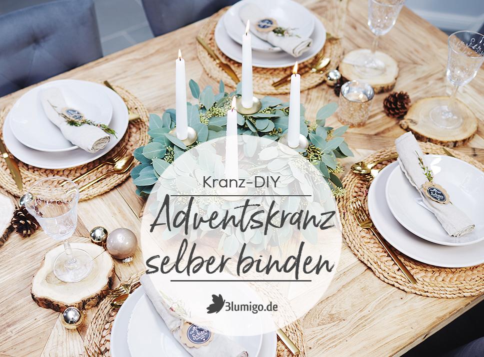 Modernen Adventskranz Selber Binden – DIY-Anleitung