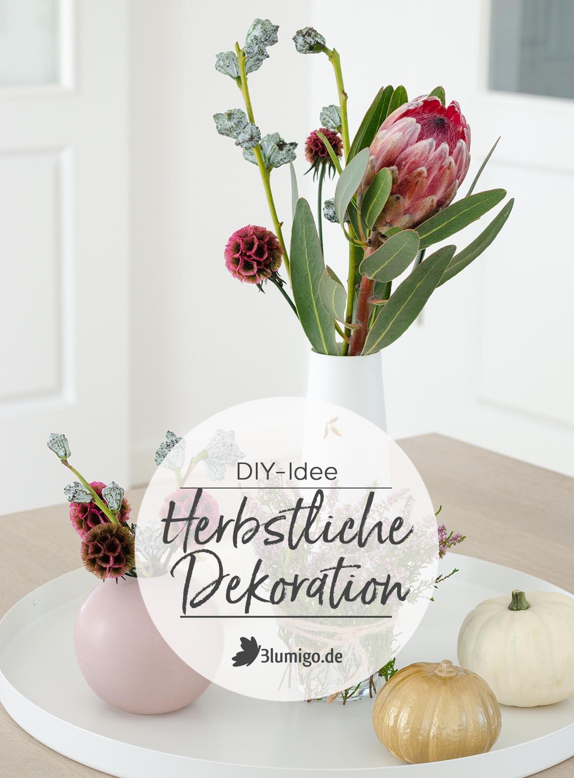 Herbstliche Deko selber machen – Eine DIY-Idee für ...