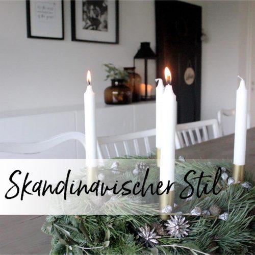 Ein Adventskranz im skandinavischen Stil
