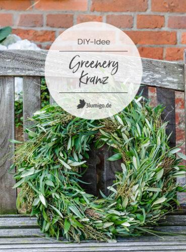 Greenery Kranz aus Olivenzweigen und Eukalyptus
