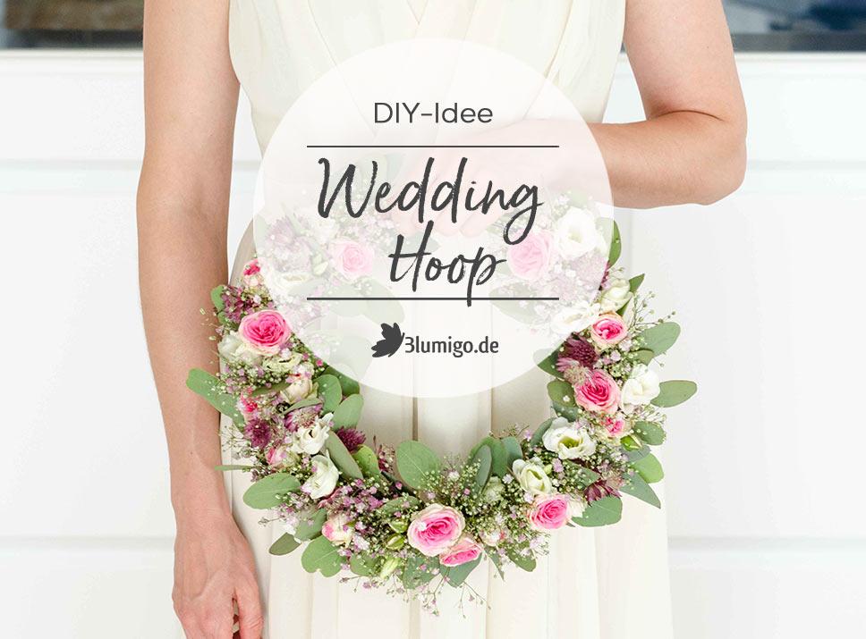 Wedding Hoop Blumen DIY