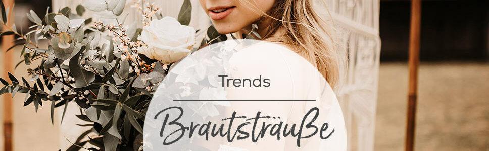 Brautstrauß Trends 2021 Braut im Boho Look