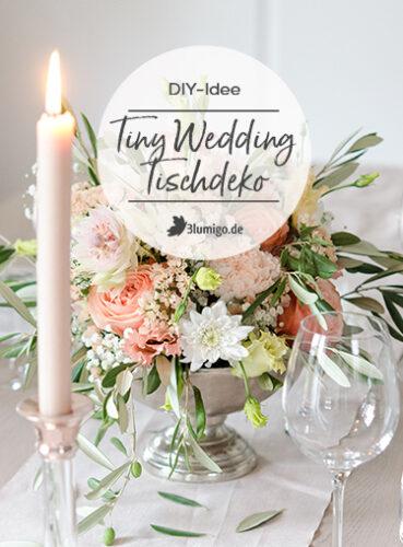 Tischdeko aus Olivenzweigen und Rosen